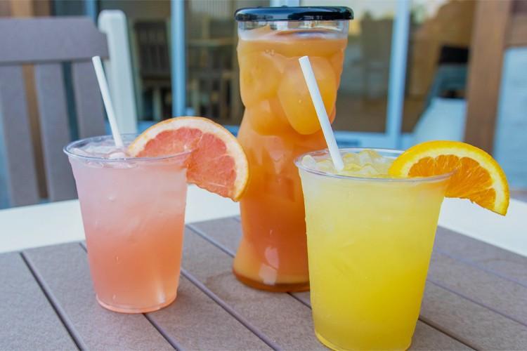 Variety of tiki hut drinks